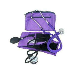 DIXIE-EMS-PROFESSIONAL-BLOOD-PRESSURE-KIT-W-SPRAGUE-STETHOSCOPE-PURPLE