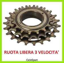 RUOTA LIBERA / CORONA a 3 velocità per Bicicletta tipo CONDORINO - City Bike