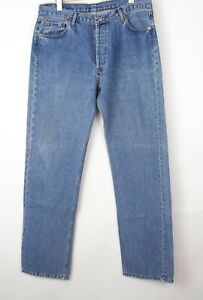 Vintage Levi's Strauss & Co Hommes 501 Jeans Jambe Droite Taille W40