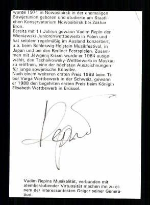 Verantwortlich Vadim Repins Original Signiert # Bc 127072 Sammeln & Seltenes