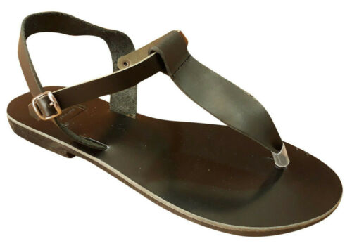 ANCIENT GREEK Style Sandals Womens Thong Leather Handmade Spartan Roman Shoes