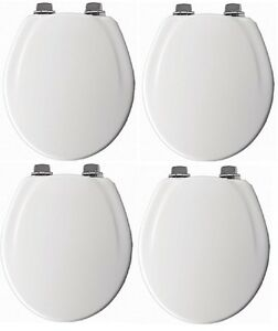 Brilliant Details About 4 Mayfair 30Nisl 000 White Round Slow Close Wood Toilet Seats W Nickel Hinges Pdpeps Interior Chair Design Pdpepsorg