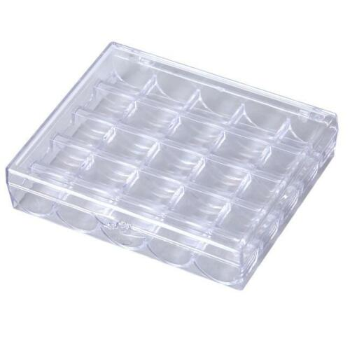 Multi Compartment Box Sewing Machine Bobbins Storage Case with Spools FI