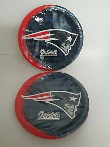 Image Is Loading Nfl New England Patriots Party Dinner Plates 8