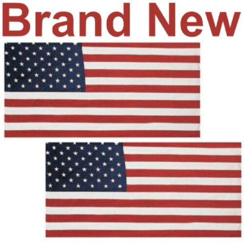 "2 NEW 30/""x60/"" AMERICAN FLAG BEACH TOWELS,COTTON U.S.A.//USA TOWEL,360G THREAD"