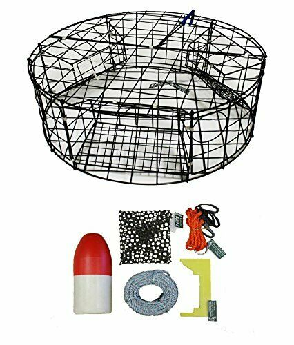 KUFA Vinyl coated Round Crab Trap & Accessory Kit  CT110+CAC3