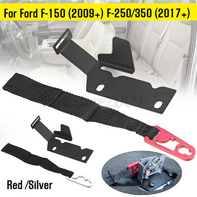 F-250//F-350 with Red Pull Strap N-B Rear Seat Release Kit for Ford SuperCrew F-150 F-150 Raptor 2015-2018 SuperCab F-150 2009-2018 2017-2018 2017-2018