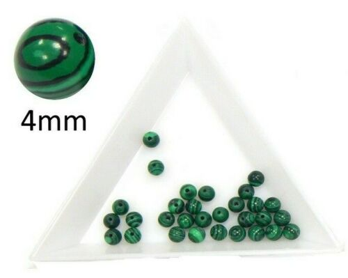 Malahitgrün Perles 4//6//8//10 mm Bijoux Pierre environ Choisir Taille