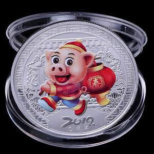 2019-Pig-Souvenir-Coin-Chinese-Zodiac-Commemorative-Coin-Lucky-Gifts-Silver-BSBB