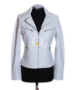 Jacket Kvinder Ladies Sheep Leather Smart Retro Rachel Vintage White Real Style ERqwqn8xv