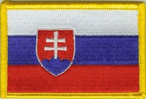 Ricamate Slovacchia bandiera bandiera aufbügler Patch 8 x 5 cm