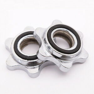 2x Dumbbell Spin Lock 2.5cm Bar Hex Nut Collar Training Equipment Parts