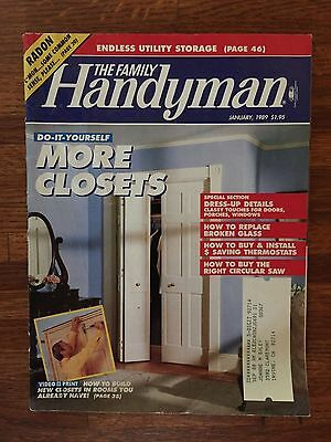 Intellective The Family Handyman Back Issue No 1 Utmost In Convenience January 1989 Vol 39