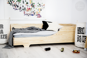 Kinderbett Holzhaus Bett Für Kinder CUBE 4 90x180