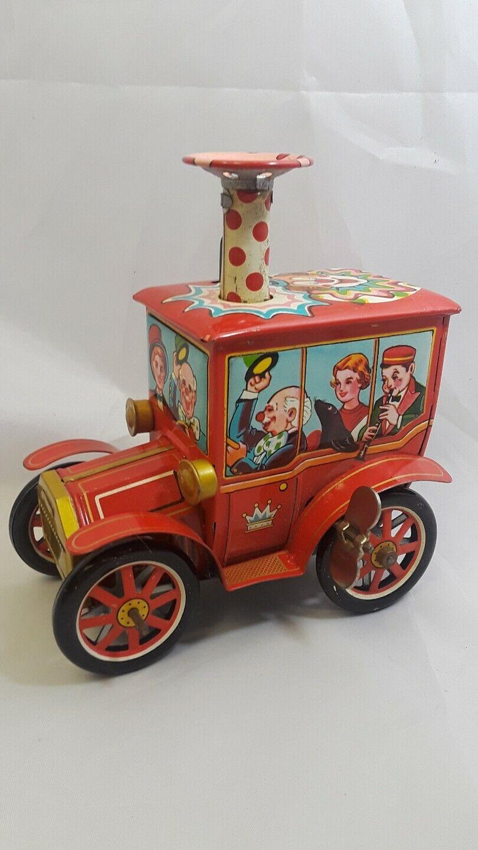 Vintage Tin Merry Ball Blower Circus Car Working Circa 1950's