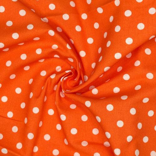 100/% Cotton Fabric 8mm Polka Dots Spots 140cm Wide Spotty Dot Crafty