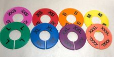 16pcs Colored Xxs 3xl Round Size Dividers For Clothing Racks Hangers Separator