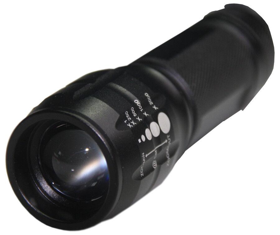 Fox Outdoor Mini High Tech DEL main/Torche focus-fonction Noir Noir Noir d7a625