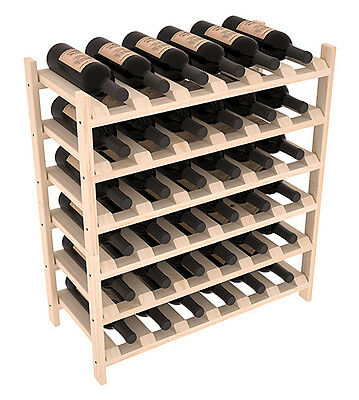 36 Bottle Stacking Wood Wine Rack Shelf In Ponderosa Pine Easy