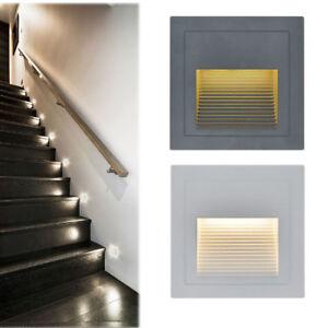 3er Set LED Treppenlicht Stufenlicht Licht Beleuchtung Treppe Aufgang Kaltweiß