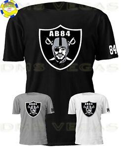 uk availability 7f9e0 c9f25 Details about Oakland Raiders Antonio Brown 84 Jersey Tee T Shirt Logo Men  S-5XL