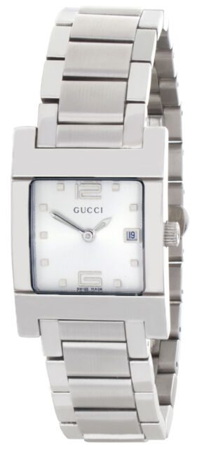 02cb333fbe7 Gucci Silver Dial Stainless Steel Bracelet Women s Watch 7700L for ...