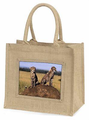 Geparden auf der Lauer Große natürliche jute-einkaufstasche Weihnachten