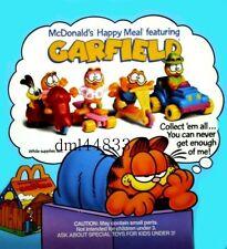 1989 McDonalds Garfield MIP Complete Set - Lot of 4, Boys & Girls, 3+