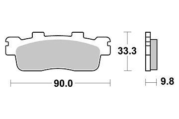 2 Plaquette Frein Arrière Polini Organique 174.0103 Kawasaki J 300 //S 2014-2016