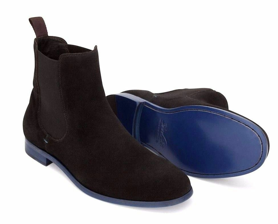 Soul36 Fairmont BLACK / Gore Blau Chelsea Suede Ankle High Gore / Elastic Pull On Boot 56405f