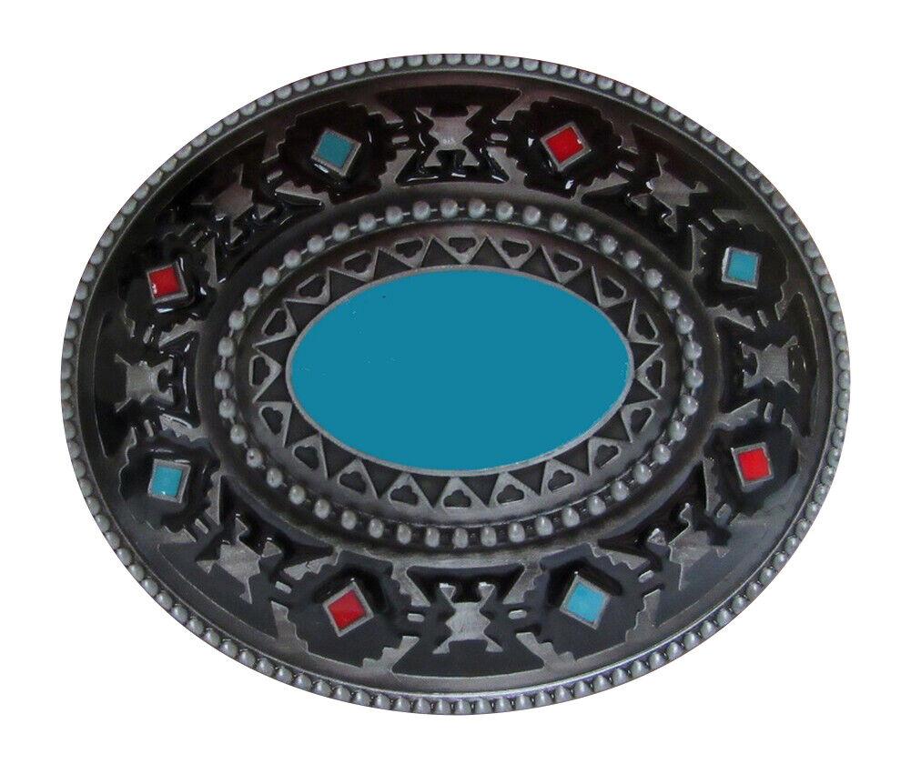 Gürtelschnalle Dekoration Stil Indisch Western Türkis