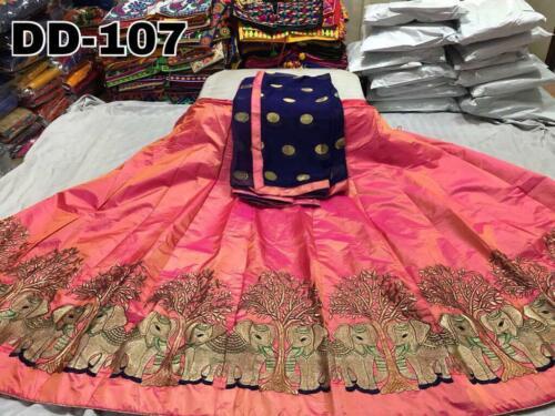 Wedding Indian Pakistan Bollywood Bridal Cloths Lehnga Choli Dupatta Animal Work