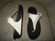 c8d229655fa529 FITFLOP Superjelly Urban White Rubber Womens Thong Sandals 8M  403-194