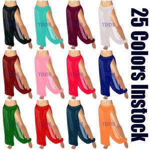Women-Student-Slit-Harem-Yoga-Genie-Trouser-Belly-Dance-Pant-Pantaloons-25Color