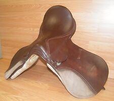"Genuine Blue Ridge 16"" Light & Dark Brown Leather English Saddle **READ!**"