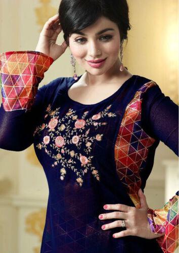 Women INDIAN Pakistani Designer Embroidery georjette Kurti Tunic Top Long