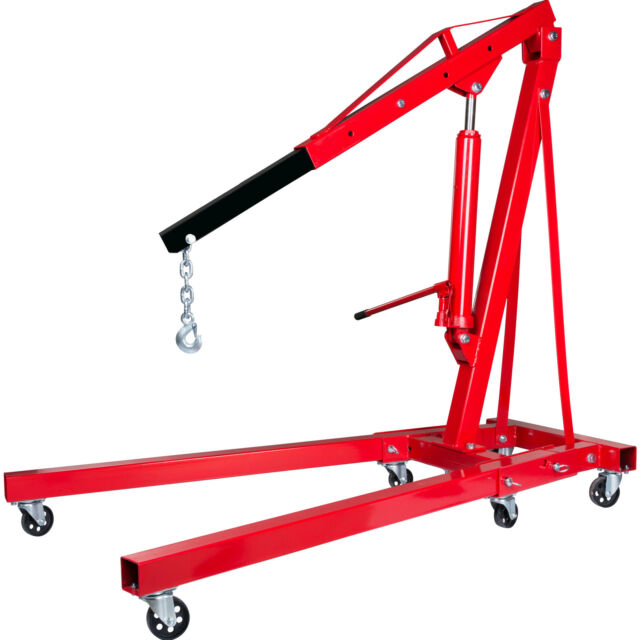 2 Ton Hydraulic Folding Engine Crane Hoist Lift Stand With 450kg ...