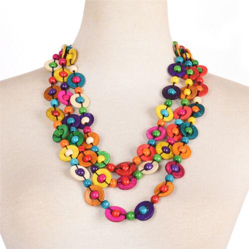 Bohemia Handmade Necklace Bracelet Multilayer Beads Pendant Statement Jewelry FE
