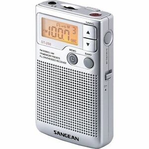 Sangean DT-250 AM/FM Pocket Radio - Silver