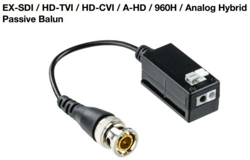 Surge-Protected Pair EX-SDI//HD-CVI//TVI//AHD Passive Balun Video-only