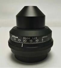 Nikon Abbe 125 Microscope Brightfield Condenser For Labophot Amp Optiphot