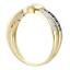 thumbnail 5 - 9ct Gold Blue Sapphire & Diamond Crossover Ring size J