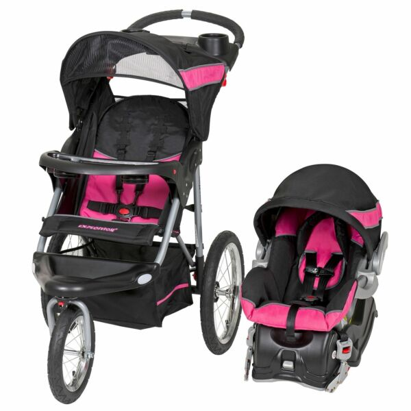 baby trend expedition jogger travel system bubble gum ebay. Black Bedroom Furniture Sets. Home Design Ideas