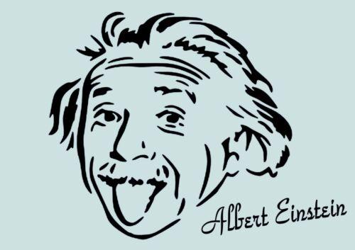 ** Nr. Möbel usw 1031 Albert Einstein **Schablone**für Stoffe