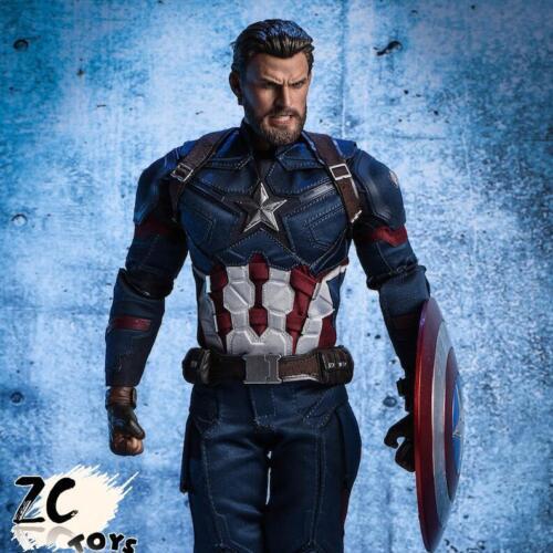 1//6 Chris Evans Captain America Avengers 3 Head Sculpt ANGRY VERSION for 12/'/'
