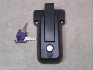 Trailer Door Keyed Lock Hasp Bar Latch Rear Side Race