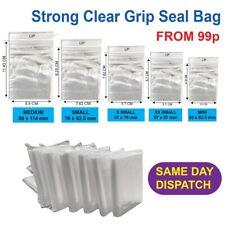 Strong Grip Seal Bags Plastic Zip Lock Baggies Self Resealable Polythene Clear