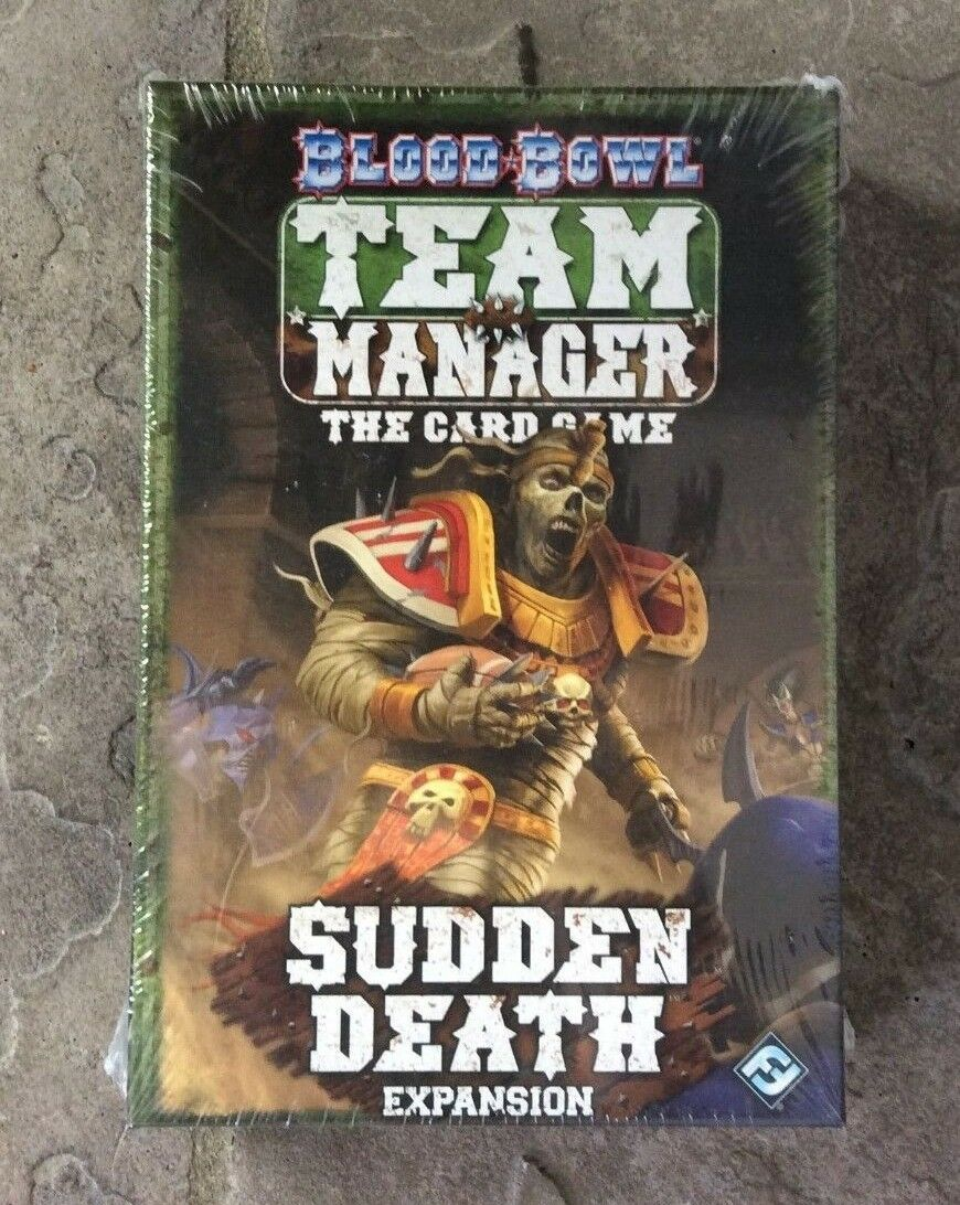 GW FF Blood Bowl TEAM MANAGER SUDDEN DEATH Expansion Card Game Complete 52841
