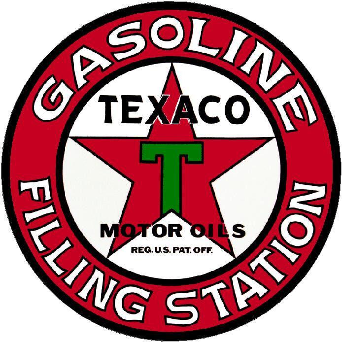 6 INCH TEXACO STAR GASOLINE VINYL STICKER A061