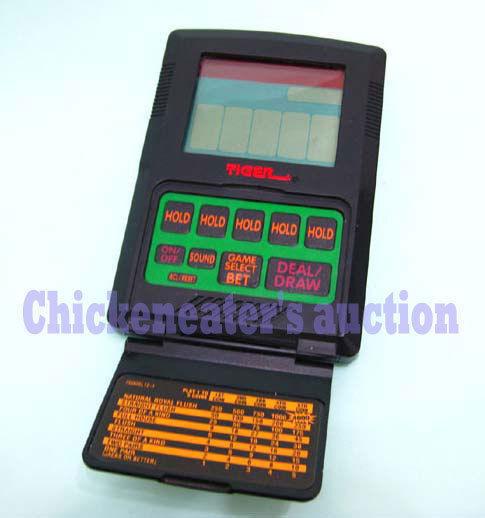 TIGER CAESAR PALACE ELECTRONIC TALKING GAME VIDEO POKER